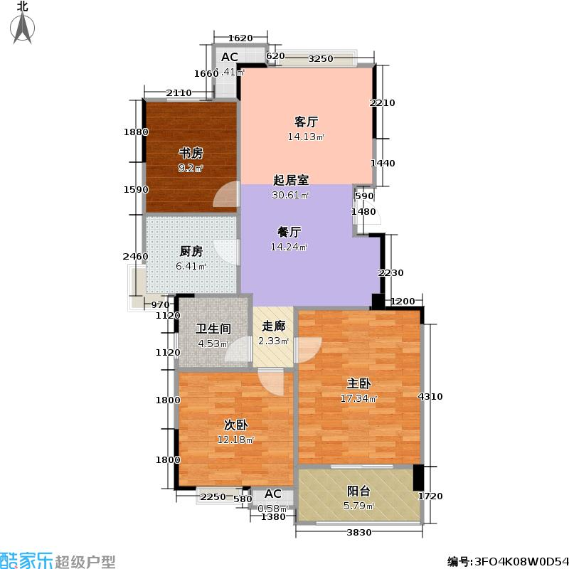 宜馨苑户型3室1卫1厨