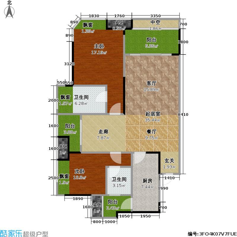 融创・御锦御锦88.00㎡1期3-3号楼4-21层G号房户型