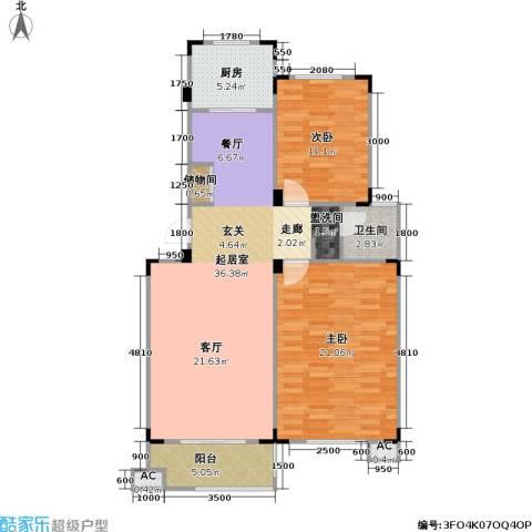 武夷水岸家园2室0厅1卫1厨112.00㎡户型图