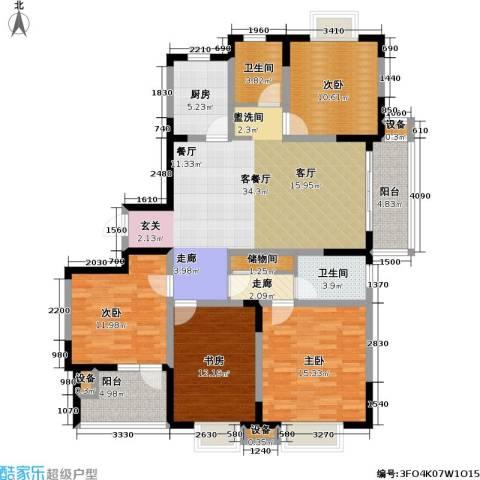 今日嘉园4室1厅2卫1厨129.77㎡户型图