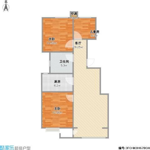 众美城3室1厅1卫1厨94.00㎡户型图