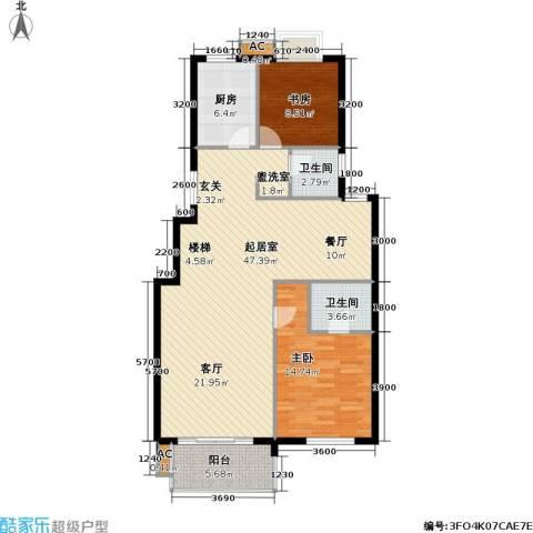 通和.都市枫林2室0厅2卫1厨141.00㎡户型图