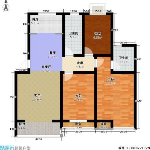 金世纪.红枫苑3室1厅2卫0厨137.00㎡户型图