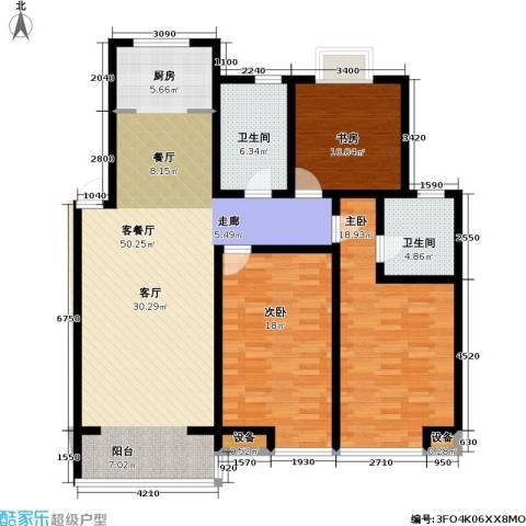 金世纪.红枫苑3室1厅2卫0厨155.00㎡户型图