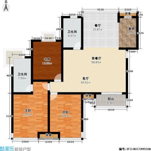金世纪.红枫苑3室1厅2卫0厨184.00㎡户型图