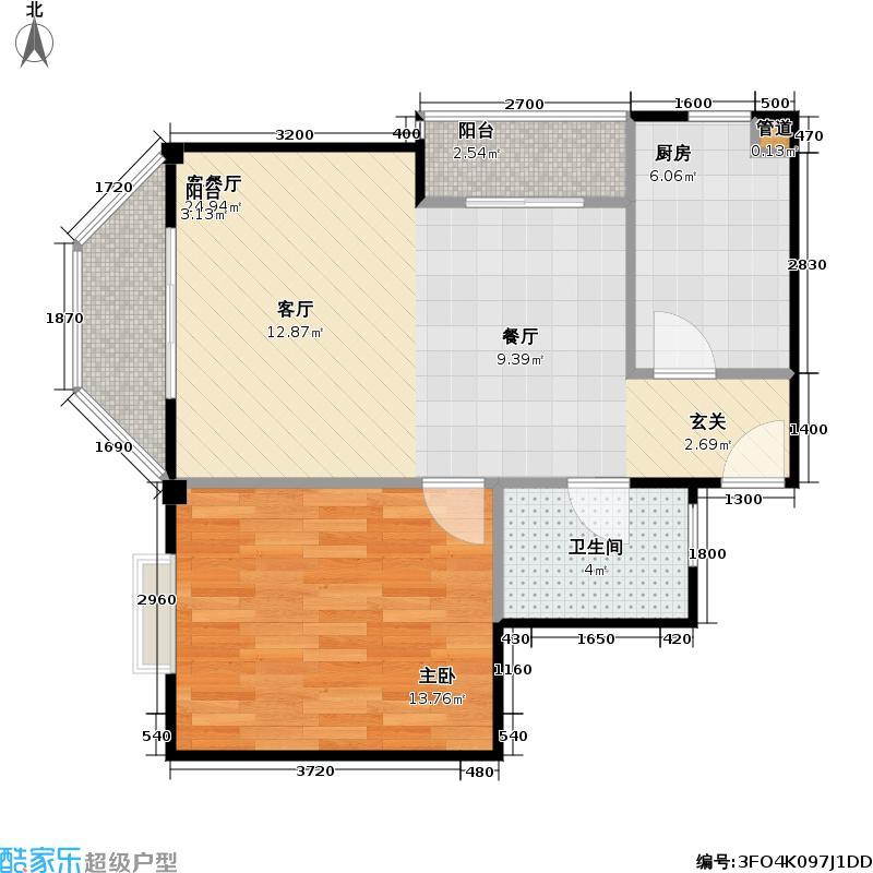 金地・阳光城59.00㎡房型户型