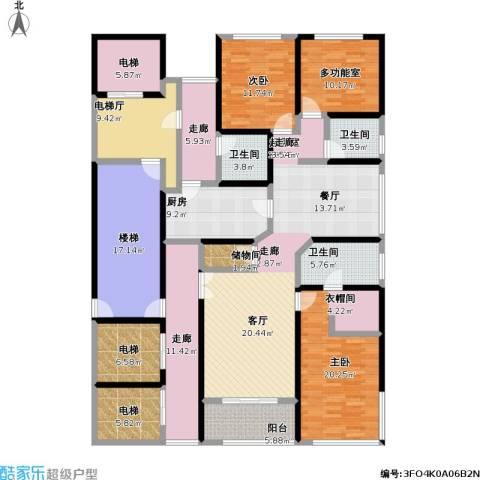 淮海晶华2室0厅3卫1厨210.00㎡户型图
