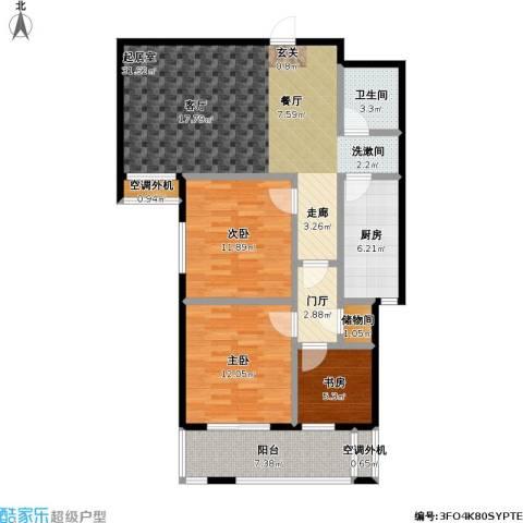 富源公馆3室0厅1卫1厨104.00㎡户型图