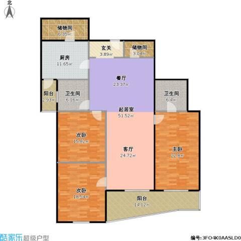 迦南公寓(尾盘)3室0厅2卫1厨179.00㎡户型图