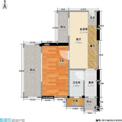 尚书苑1室0厅1卫1厨40.00㎡户型图