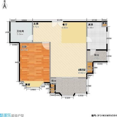 西班牙名园一期1室0厅1卫1厨91.00㎡户型图
