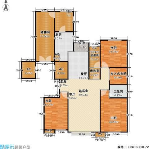 奥泰格林山水城3室0厅2卫1厨213.00㎡户型图
