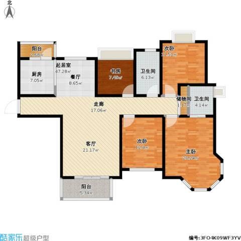 青枫公馆4室0厅2卫1厨143.00㎡户型图