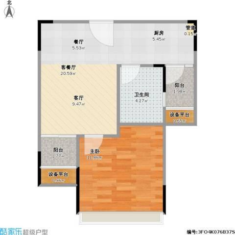 尚城国际1室1厅1卫0厨47.00㎡户型图