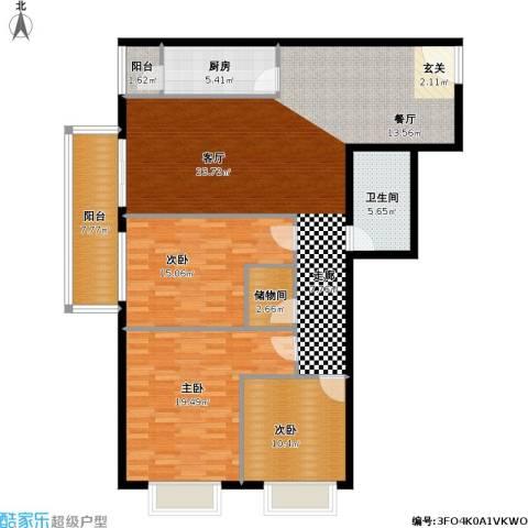 恬心家园(二期)3室0厅1卫1厨129.00㎡户型图