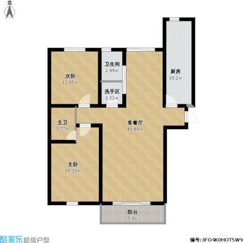 心海湾二期2室1厅1卫1厨134.00㎡户型图