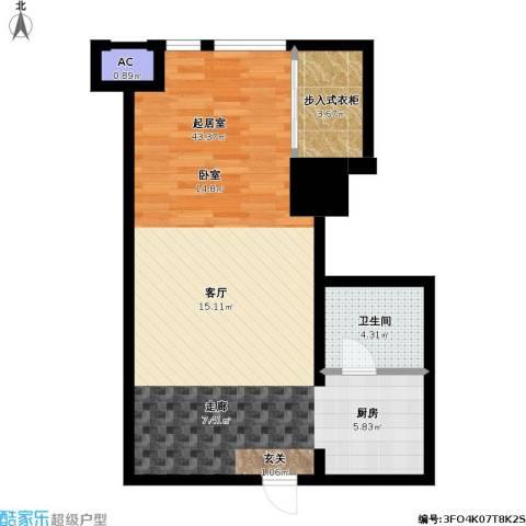如意商务公寓1卫0厨59.00㎡户型图