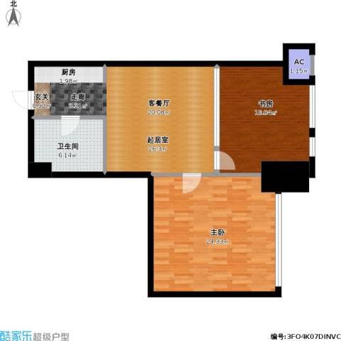 如意商务公寓2室0厅1卫0厨84.00㎡户型图