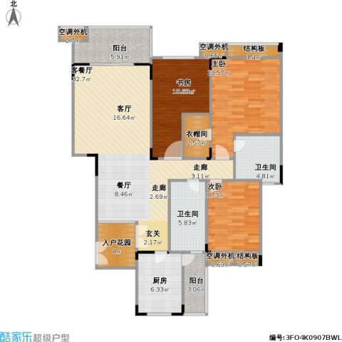 福江・名城 名城3室1厅2卫1厨112.00㎡户型图
