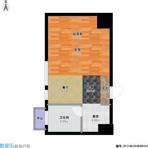 如意商务公寓1卫0厨46.00㎡户型图