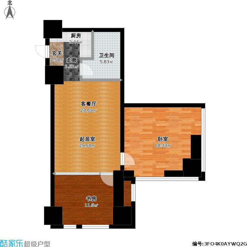 如意商务公寓79.45㎡平层户型
