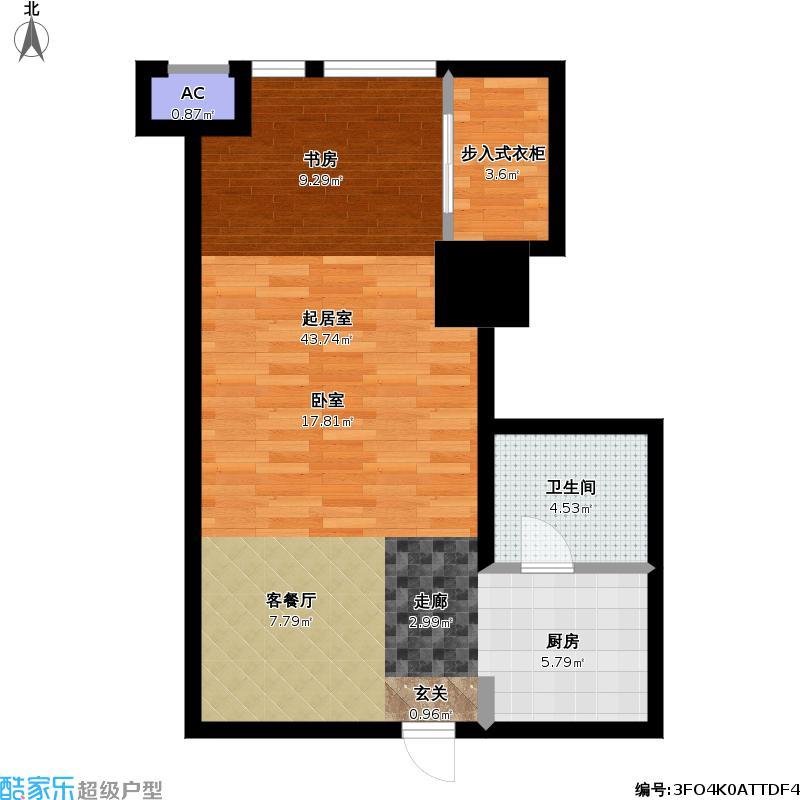 如意商务公寓595.22㎡平层户型