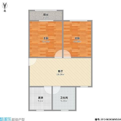 金桂苑2室1厅1卫1厨73.00㎡户型图