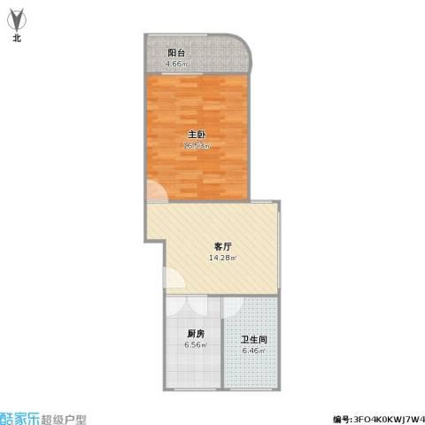 平吉二村1室1厅1卫1厨65.00㎡户型图