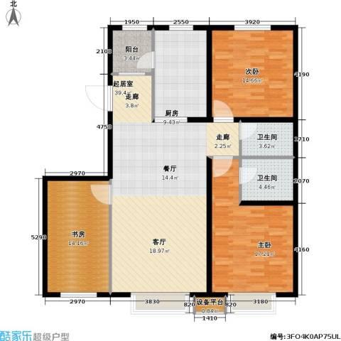第一城D组团3室0厅2卫1厨119.00㎡户型图