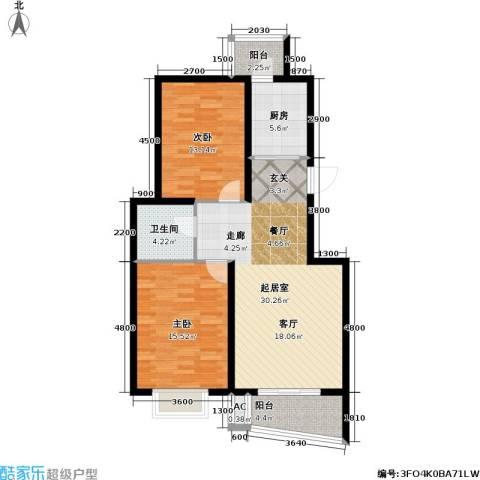 海城公寓2室0厅1卫1厨108.00㎡户型图