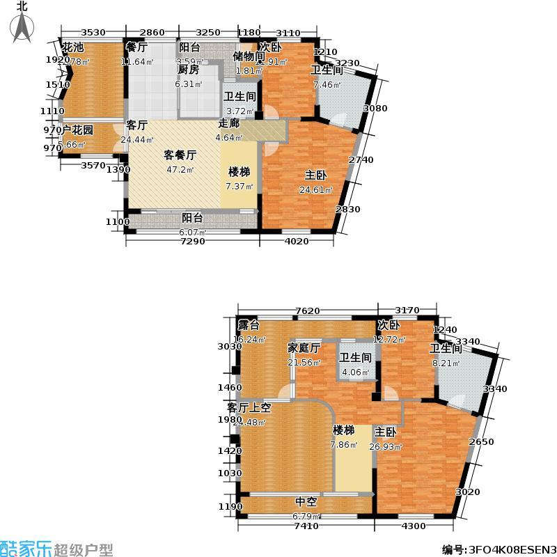 青扬六和223.00㎡房型户型