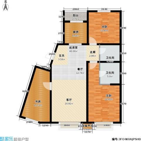 第一城D组团3室0厅2卫1厨123.00㎡户型图