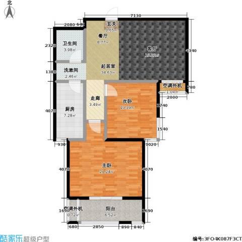 富源公馆2室0厅1卫1厨97.00㎡户型图
