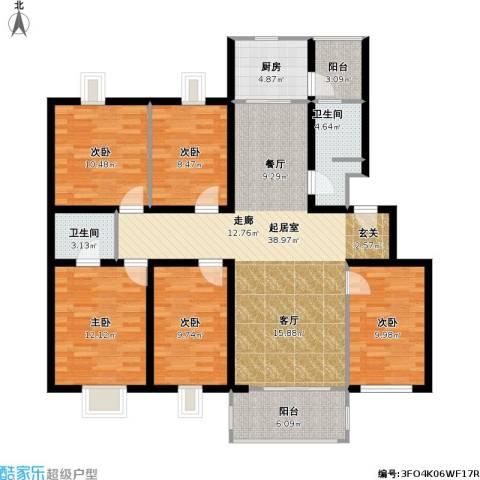 兴都花园5室0厅2卫1厨139.00㎡户型图
