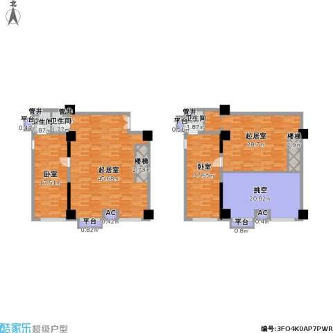 如意商务公寓3卫0厨160.00㎡户型图