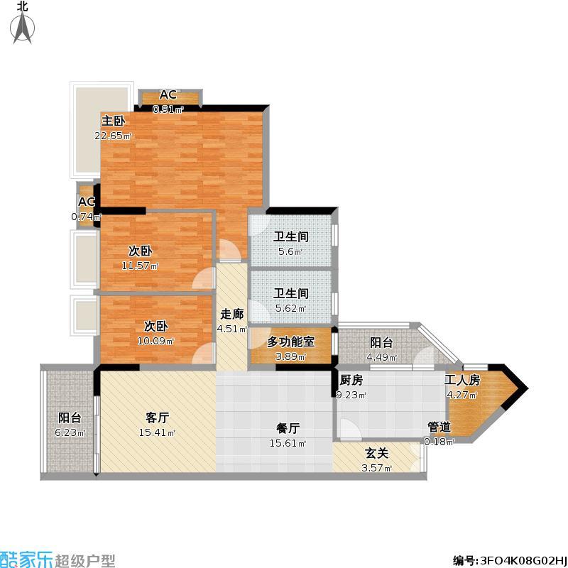 翠丽大厦162.44㎡08单位户型