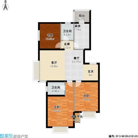 第一城D组团3室0厅2卫1厨114.00㎡户型图