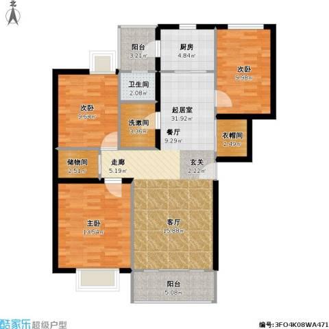 兴都花园3室0厅1卫1厨94.00㎡户型图