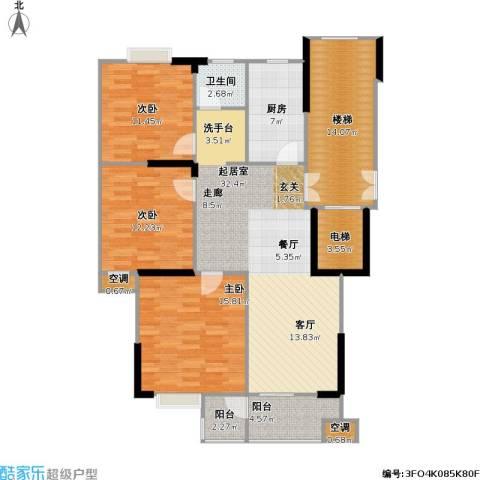 福基丽景园3室0厅1卫1厨116.00㎡户型图