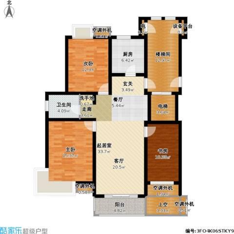 亚东同城印象3室0厅1卫1厨114.00㎡户型图