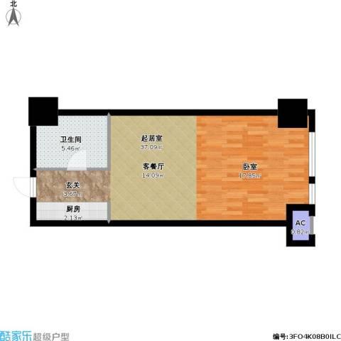 如意商务公寓1卫0厨49.00㎡户型图