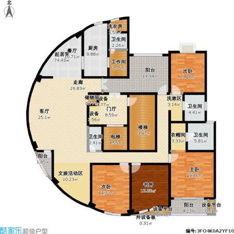 新江湾城A3-2地块4室0厅4卫1厨240.00㎡户型图