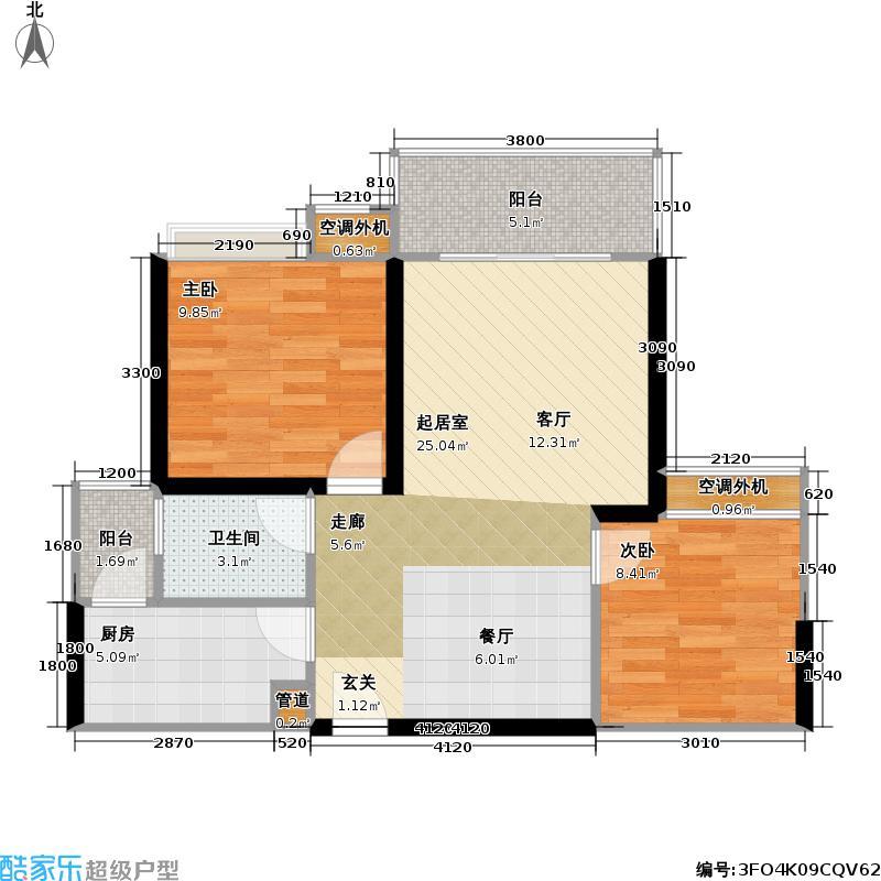 绿湾・相国苑40.14㎡房型户型