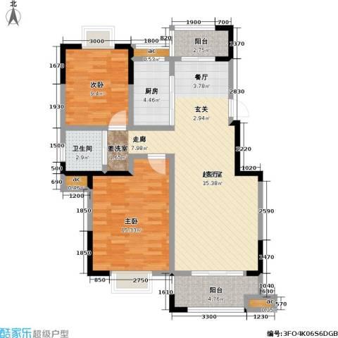 横塘西苑2室0厅1卫1厨106.00㎡户型图