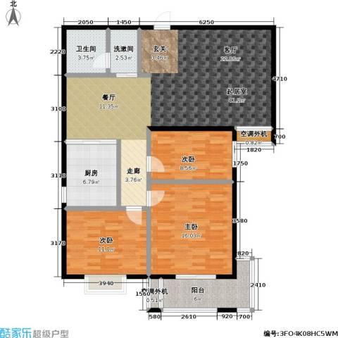 富源公馆3室0厅1卫1厨123.00㎡户型图