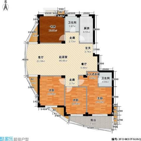通和.都市枫林4室0厅2卫1厨148.00㎡户型图