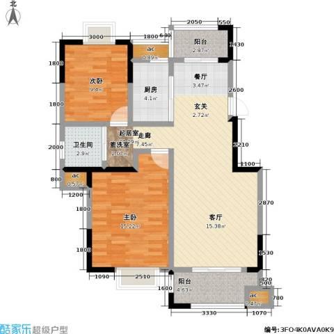 横塘西苑2室0厅1卫1厨105.00㎡户型图