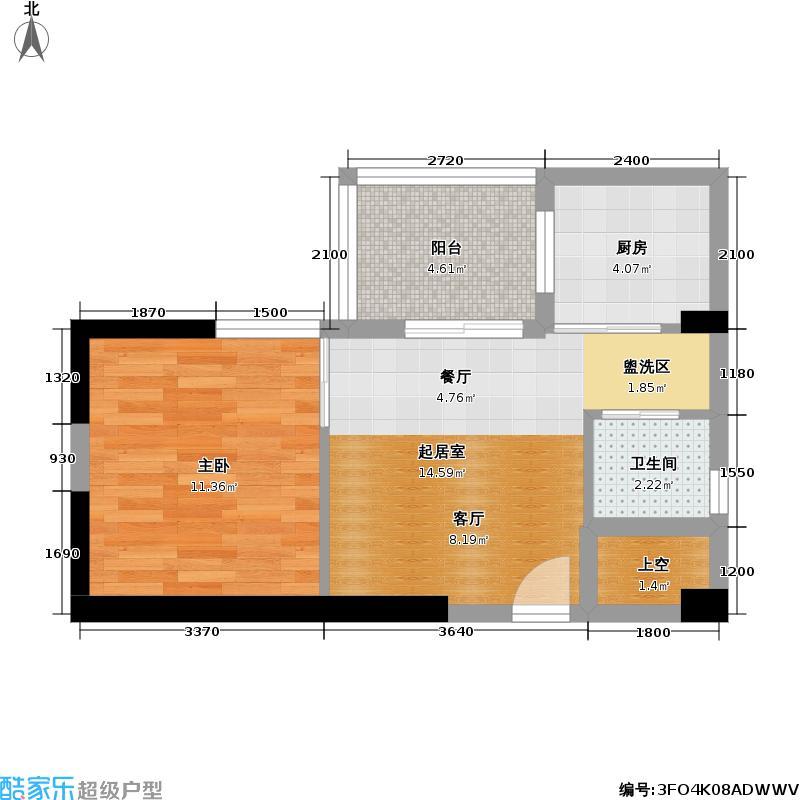 翡翠城53.49㎡房型户型