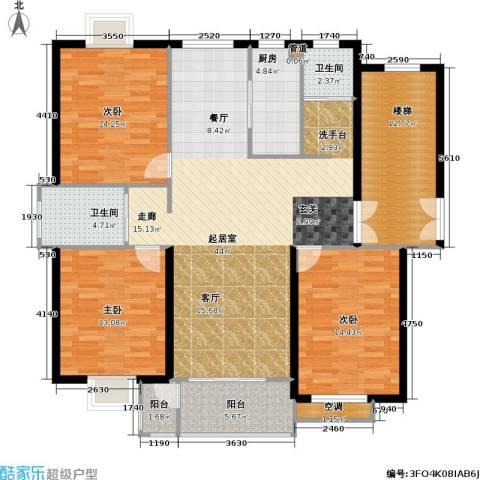 福基丽景园3室0厅2卫1厨119.03㎡户型图