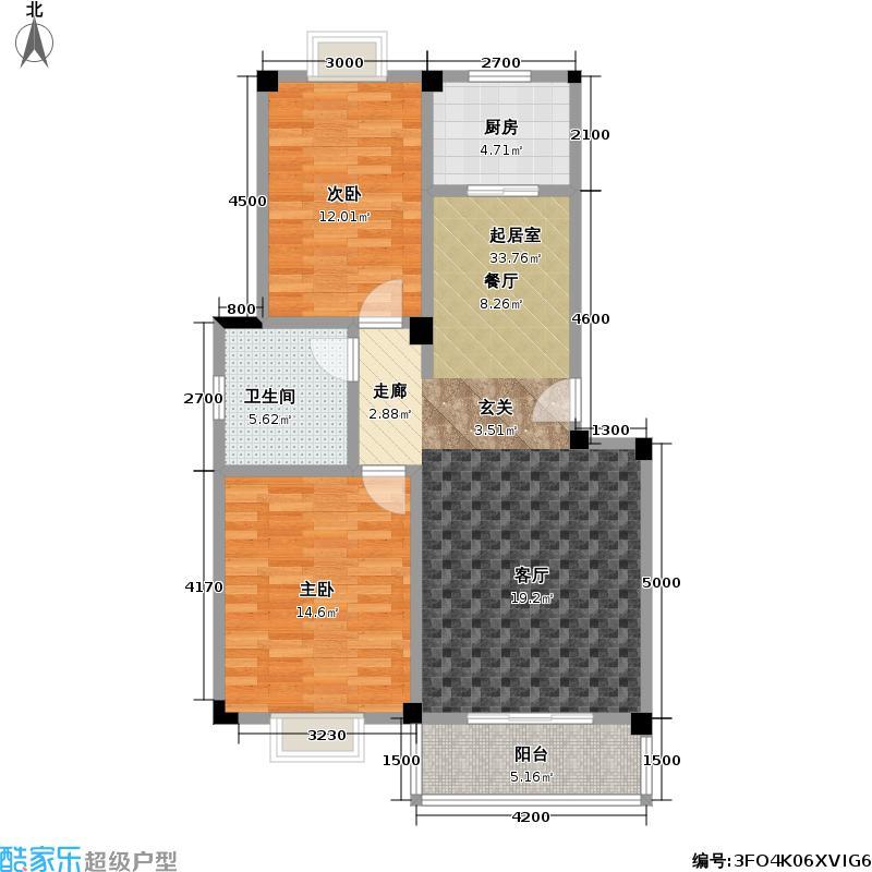 统建・同安家园85.00㎡房型户型